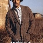 "Free knitting pattern ""Men's cardigan with collar"""