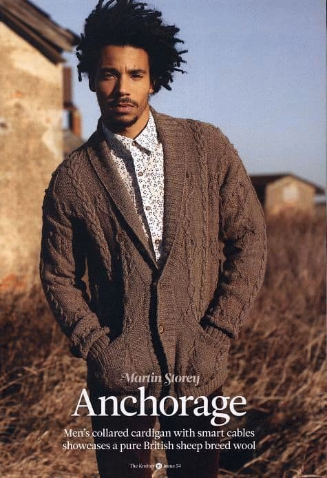 Free Knitting Pattern Mens Cardigan With Collar Knitting And