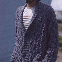 knitted cardigan for men