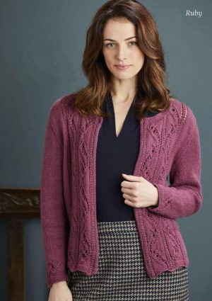 "Womens knitted cardigan ""Ruby"""