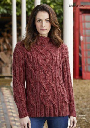 Woman knitted jumper - free knitting pattern