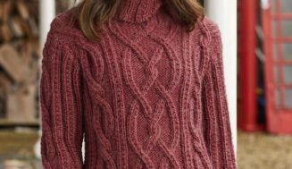 Woman knitted jumper – free knitting pattern
