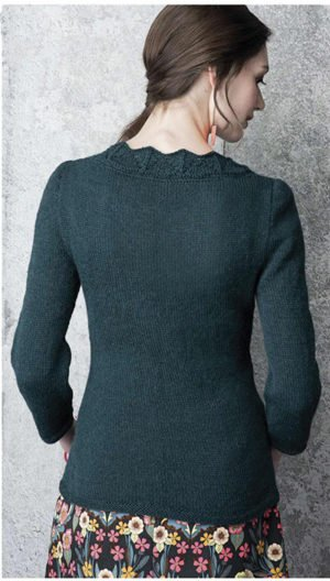 "Free knitting pattern ""Lace neck jumper"""