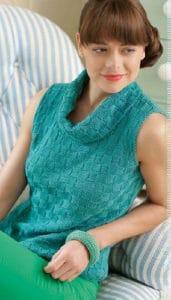 Knitted sleeveless jumper for women Damara