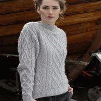 Women's aran pullover