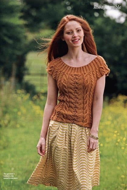 Free Knitting Pattern Brown Pullover Knitting And Crochet