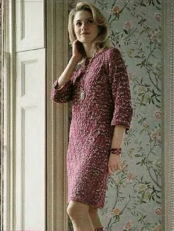 Knitted Women Dress Free Knitting Pattern Knitting And Crochet