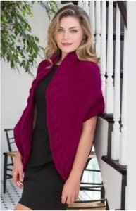 Reversible Cable Wrap-free knitting pattern