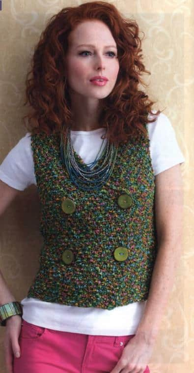 Double Breasted Knitted Vest Free Knitting Patterns Knitting And