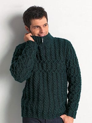 zip-collar-sweater-men-free-knitting-pattern