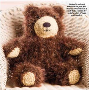 knitted toys-bear