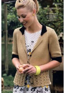 Free knitting pattern Blazer for women Arundel