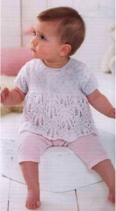 Free knitting pattern Baby twinset