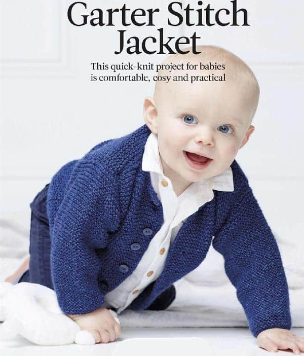 Garter Stitch Jacket for kids -free knitting pattern - Knitting and ...