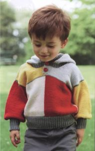 Hooded knitted sweater for kids