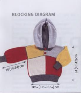 Hooded knitted sweater for kids-chart