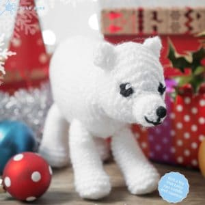 Christmas knitted toys -polar bear
