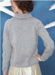 Knitted Silver jacket free pattern