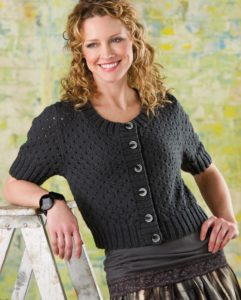 Cropped cardigan-free knitting pattern