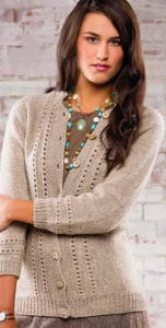Weekender cardigan-free knitting pattern
