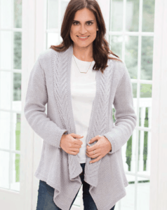 Knit woman's cardigan- free knit pattern