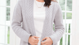 Knit woman's cardigan- free knit pattern