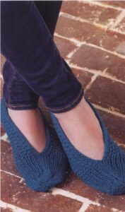 Knitted slippers-free knitting pattern