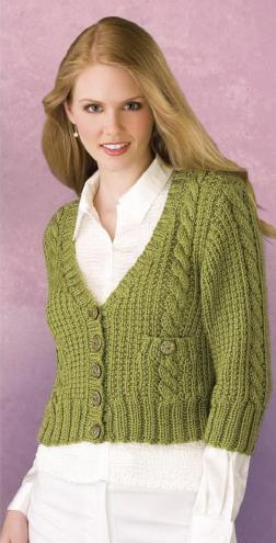 Office-to-Casual Cardigan-free knitting pattern