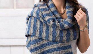 Shawl wrap-knitting pattern