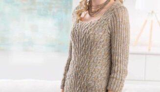 Donna pullover-knitting pattern