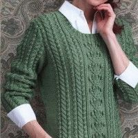 pullover in aran style
