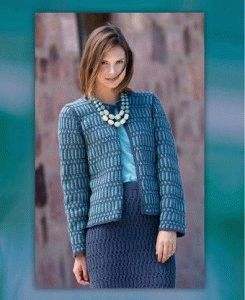 knitted two piece suit